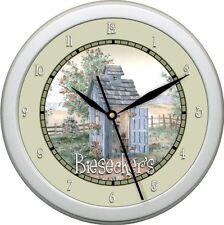 Personalized Garden Bathroom  Wall Clock Gift