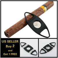 Stainless Steel Pocket Cigar Cut Double Blades V Cutter Knife Shears Scissors