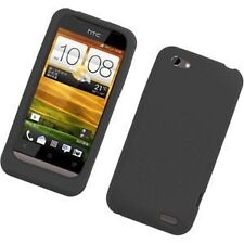 Silicone Skin Case for HTC One V - Black