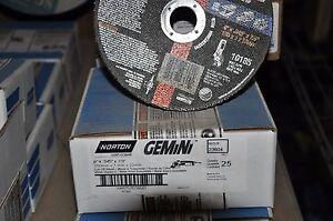 Norton Gemini Rightcut cutoff wheel, 6x045x7/8, Box of 25, Part# 66252823604