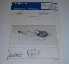 Einbauanleitung Volvo 440 Serie elektrische Antenne Power Antenna Mai 1988!