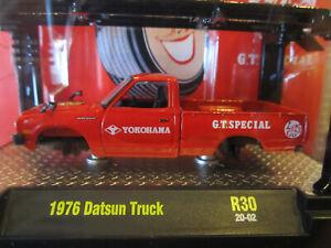 1976 Datsun Truck Green metal**RR** M2 Machines Japan Box 1:64 NEU