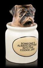 Mops Figur als Keksdose - lustiger Welpe Box Kaffee Dose Teedose Keramik