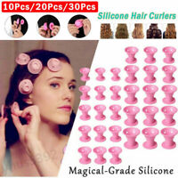 Magic Silicone Hair Curlers Rollers No Heat Formers Styling Curling DIY Tool Lot