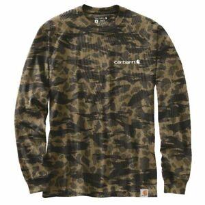 Carhartt Longsleeve Workwear Grapihc L/S T-Shirt Black Blind Duck Camo