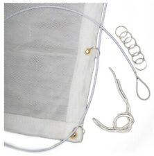 Egertec Archery Backstop Netting 9ft X 10ft. Comes With Hanging Wire And Rings