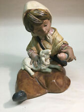 collectible vintage porcelain figurines Lladro #2223 New Lamb in Gris finish