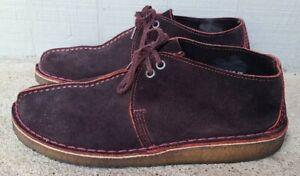 Clarks Originals Desert Trek Boots Shoes deep Red / Purple Lace Up size 9 men's