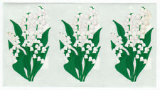 Three Vintage Mrs Grossman Flower Stickers - Lily of the Valley