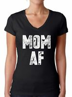 Mom AF V-Neck Tshirt Mom V Neck Shirt Funny Mom Gifts for Women Best Mom Tshirt