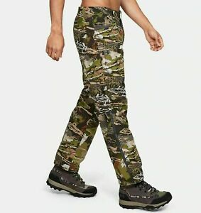 "Under Armour Mens Grit Hunting Pants Forest Camo Forest Khaki Sz 34"" Camouflage"