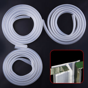 2m Rubber Silicone Bath Shower Screen Door Window Seal Strip Gap Curved Flat
