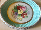 Antique 'GIVE US THIS DAY OUR DAILY BREAD' Gilded Floral Plate Prattware?