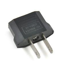European EU to American US USA Travel Adapter Jack Wall Plug Outlet Converter