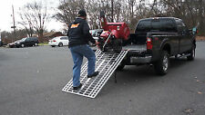 "6' x 40"" Aluminum Folding Ramp USA 400DR- ATV/Snow Blower Ramp VIDEO Demo Inside"