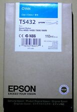 Epson Cyan Ink T5432 New 110ML Genuine Date: 2011