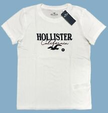 Hollister By Abercrombie Women's short sleeves Applique Logo Graphic T-Shirt Tee