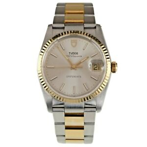 Tudor Two-Tone Stainless Steel & Gold-Plated Oysterquartz Men's Watch 84033