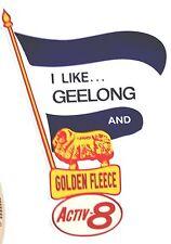 GEELONG & GOLDEN FLEECE Vinyl Decal Sticker PETROL PROMO OILS afl vfl THE CATS