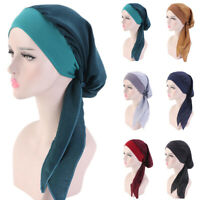 Muslim Women Chemo Cap Beanie Hair Loss Turban Hat Head Scarf Wrap Bandana Hijab