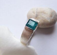 UKM  Silber Ring W 57 Turmalin  indigolith  farben  carree  2 Carat   6,7 mm