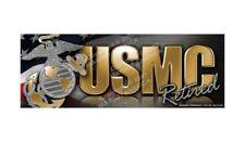 USMC Retired Marine Bumper Strip Car & Refrigerator Magnet
