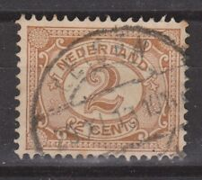 NVPH Netherlands Nederland 54 TOP CANCEL LEIDEN Cijfer 1899 Pays Bas