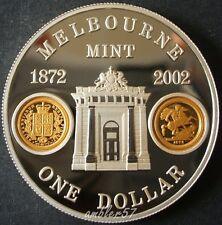 ** 2002 Australian Melbourne Mint 1oz silver Proof**