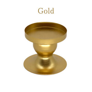 1PC Dining Table Candlestick Candle Stand Gold Candle Holders Round Candelabros