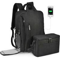 CADeN Camera Bag Backpack w/USB Charging Port for DSLR/SLR Waterproof Raincover