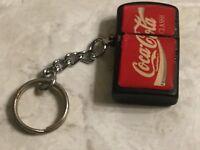 """Coca Cola Miniature Lighter Key Chain Coke Soda Pop 1"""""""