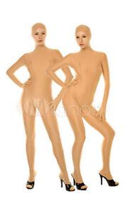 Blue/Skin Color Halloween costume Catsuit unisex Lycra Spandex full Body suit
