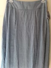 NEW WITH TAGS--LAURA SCOTT WOMAN'S SKIRT-COLOR-DENIM BLUE--SIZE IS MEDIUM