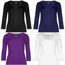 Marks and Spencer V Neck Regular Size T-Shirts for Women