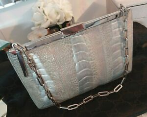 TOM FORD for Gucci, Spring Summer 2000 Ostrich Leather Silver Runway Bag Clutch
