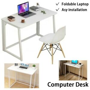 Foldable Computer Desk Folding Laptop PC Table Home Office Study Gaming Desk