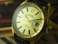 VINTAGE TUDOR 18K Gold Bezel 92411 Princess Oyster Date 2671 Auto Ladies Watch