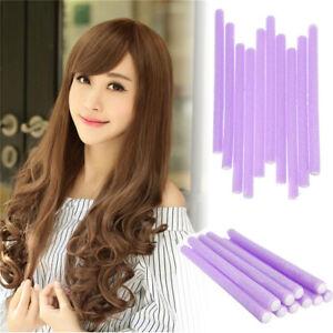 10Pcs Hair Curler Roller Curling Sticks Foam Bendy Flexi Rod DIY Styling Tool