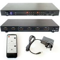 4x2 HDMI Matrix-Full HD Input/Output Multi Room Distribution Splitter/Switch Box