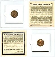Ancient Emperor Aurelian Father of Christmas Roman Coin Mini Album & Certificate