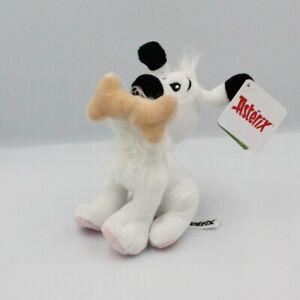 Doudou peluche chien blanc Idéfix avec os rose ASTERIX - Chien, Loup, Renard Cla
