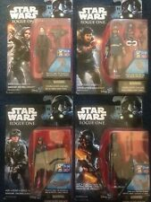 New Star Wars Lot Of 4 Action Figures 3.75 In Cassain, Jyn, Jyn, Imperial Ground