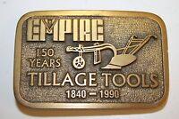 Vintage Limited 57 Of 250 Empire Tillage Tools Since 1840 Brass Belt Buckle