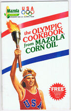 Vintage 1988 Olympics Team USA Mazola Corn Oil Food Advertising Cookbook Torch