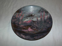 VINTAGE ALASKA GOLD RUSH  1975 HOLTMANN METAL GOLD PAN ART SIGNED