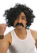 Mens Cosplay 118 118 design Wig + Moustache Hair Curly Afro wig Fancy Dress