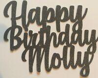Custom Cake Topper Happy Birthday Glitter personalised