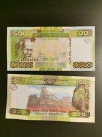BILLETE DE  GUINEA 500 FRANCS 2015 P 39 UNC