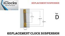 Brass Clock Pendulum Suspension Spring. (29 x 12 x 5mm) (Type D) UK Seller