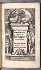 Jacob wait: batrachomyomachia Homeri, besson romana cantata [...], munich 1647
